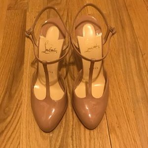 Christian Louboutin Nude Mary Jane Style Heels